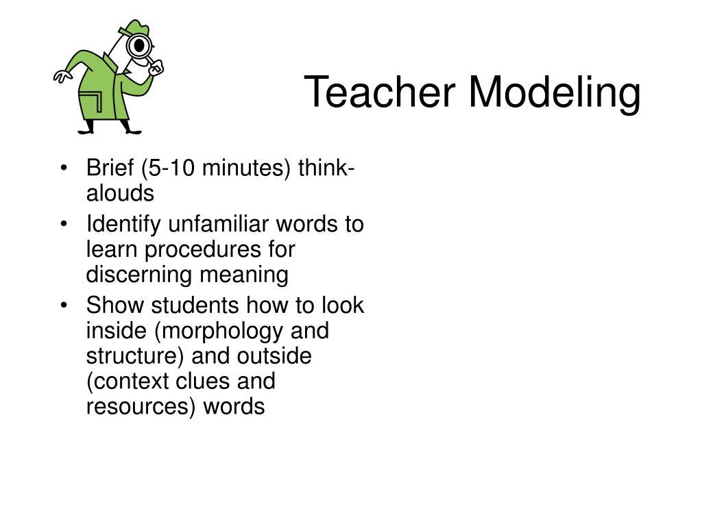 Teacher Modeling