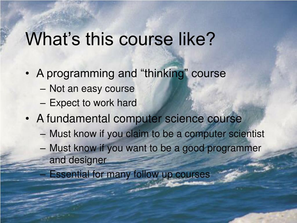 What's this course like?