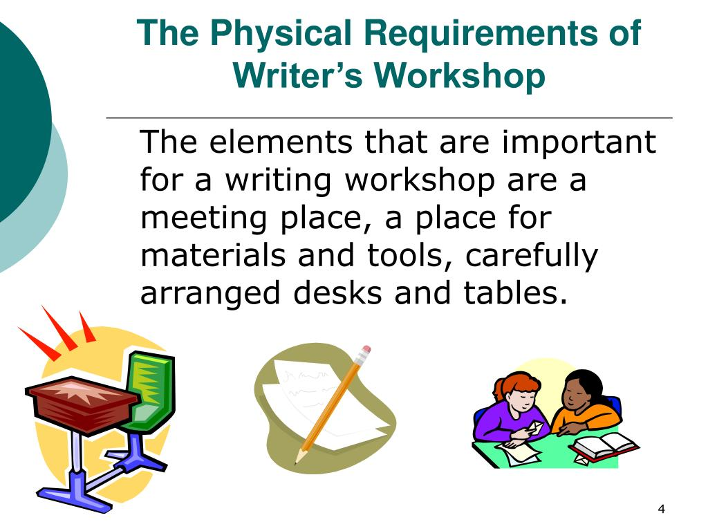 The Physical Requirements of Writer's Workshop