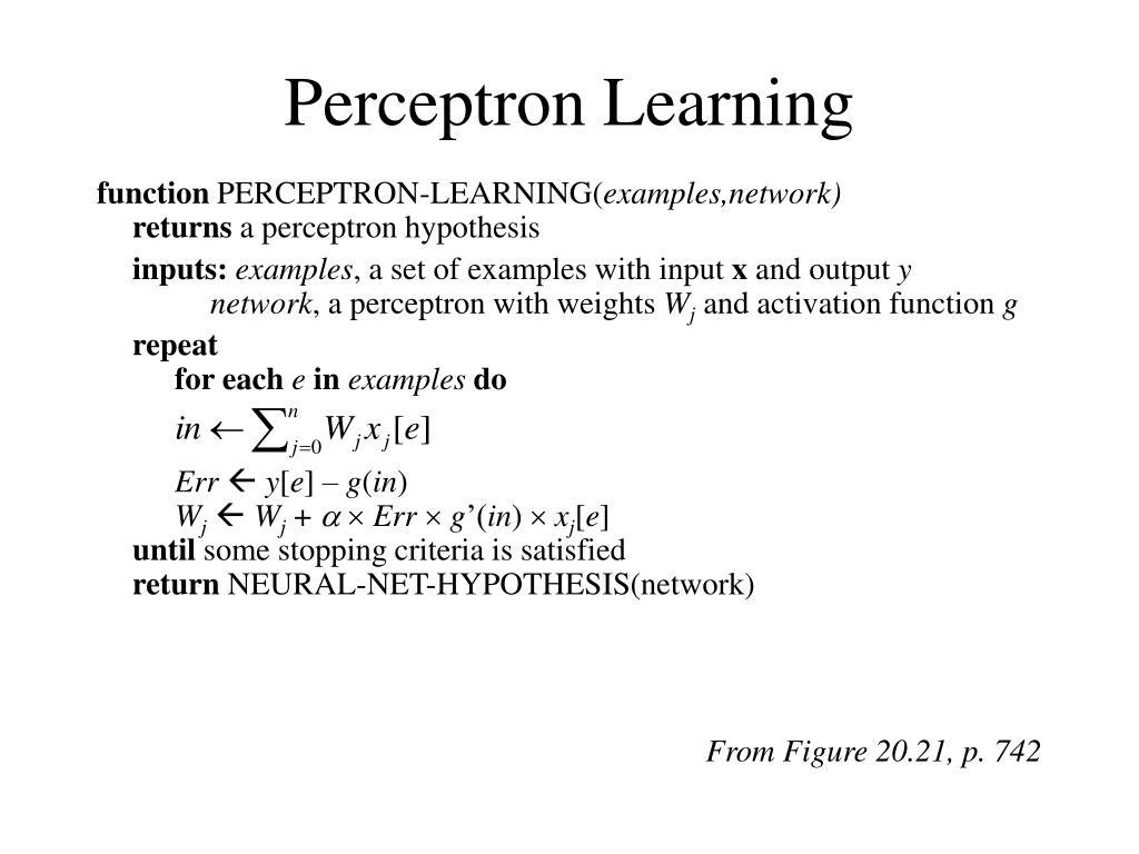 Perceptron Learning