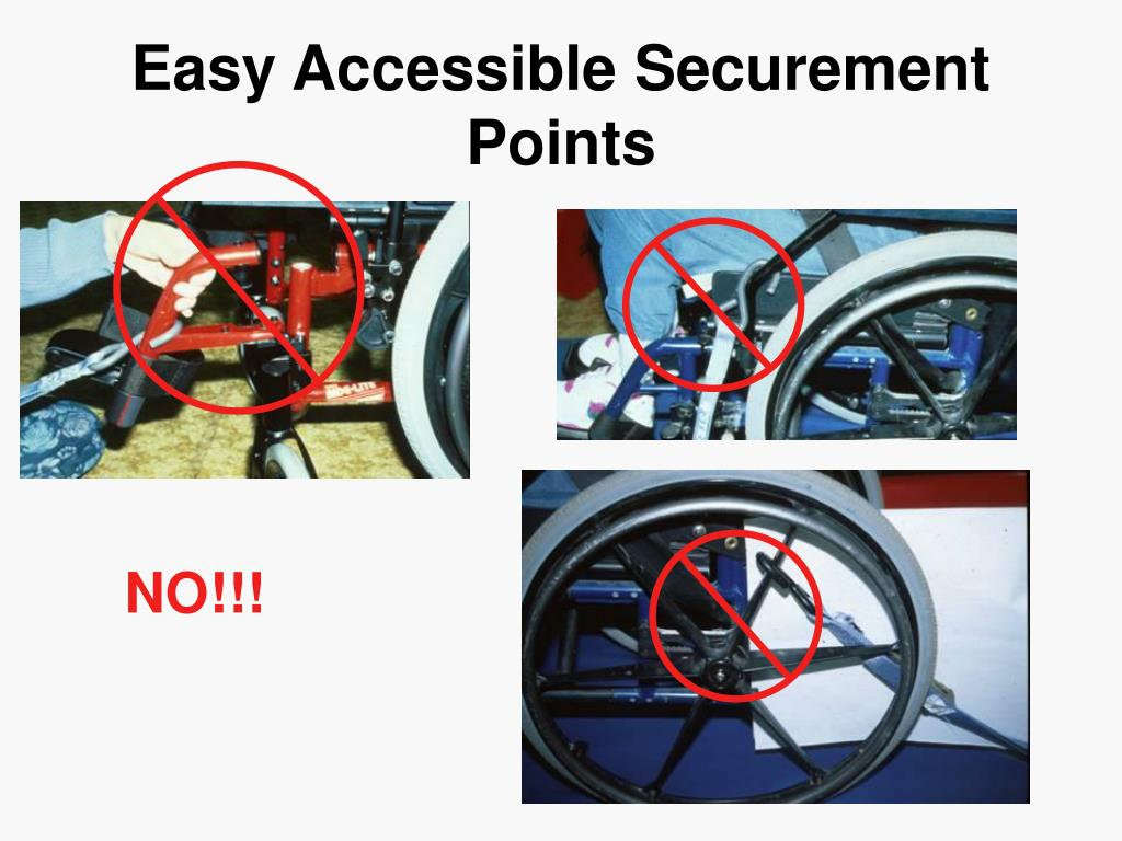Easy Accessible Securement Points