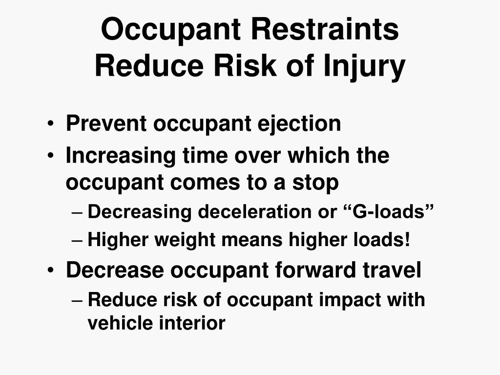 Occupant Restraints