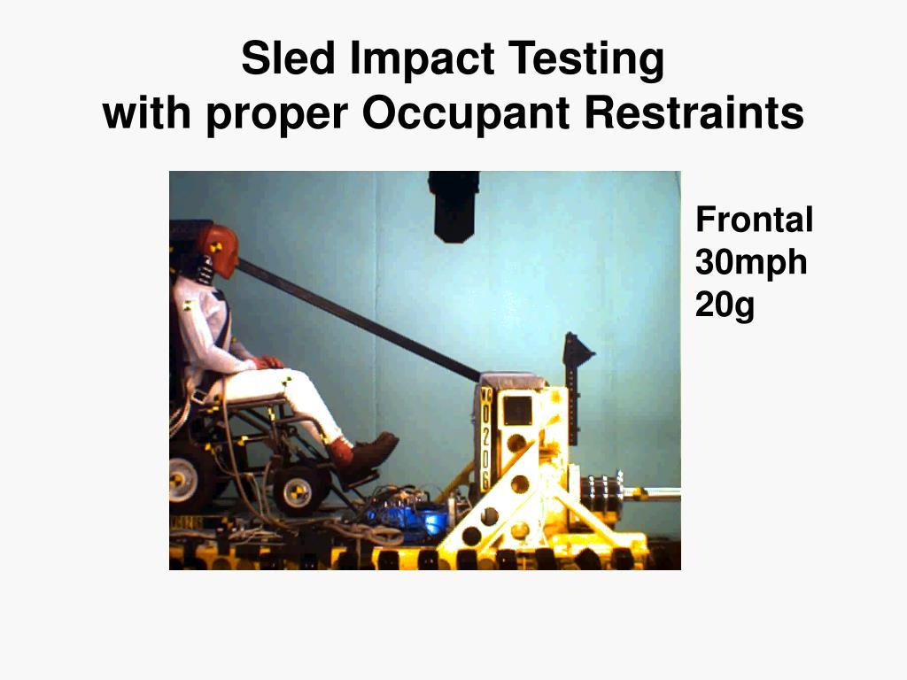 Sled Impact Testing