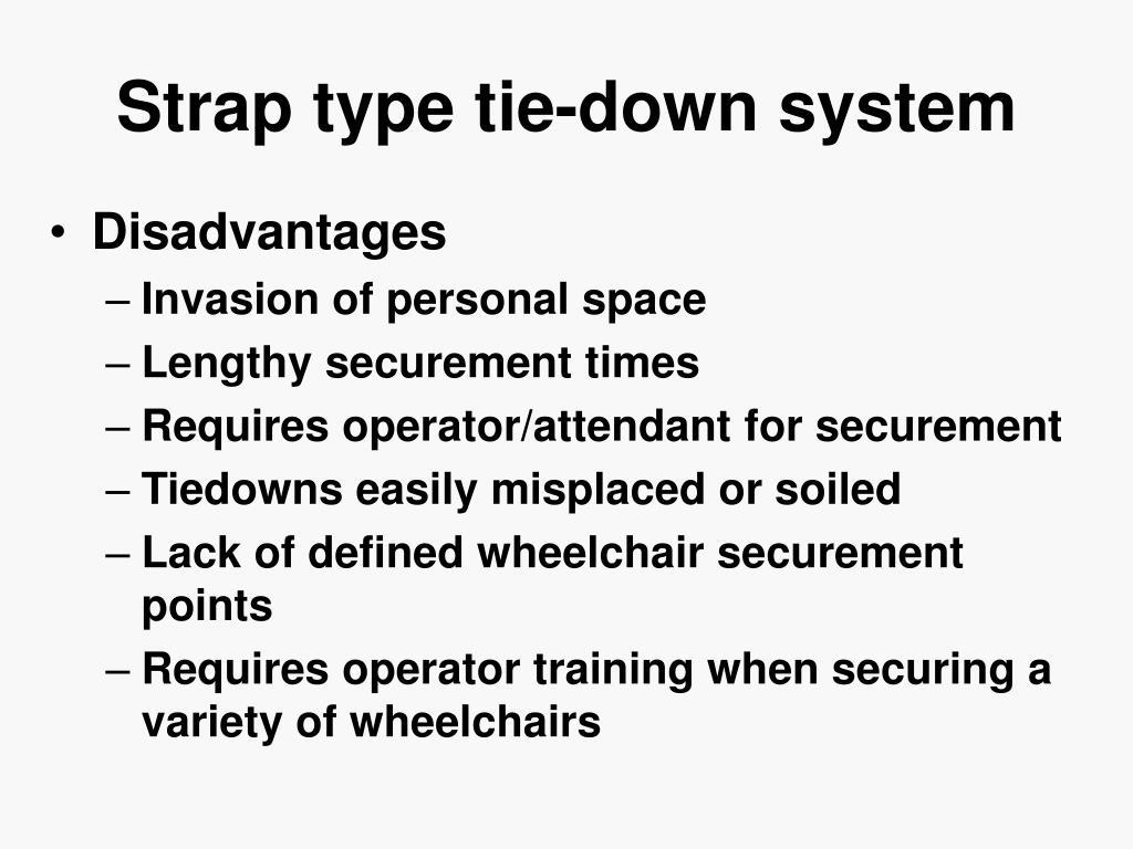 Strap type tie-down system