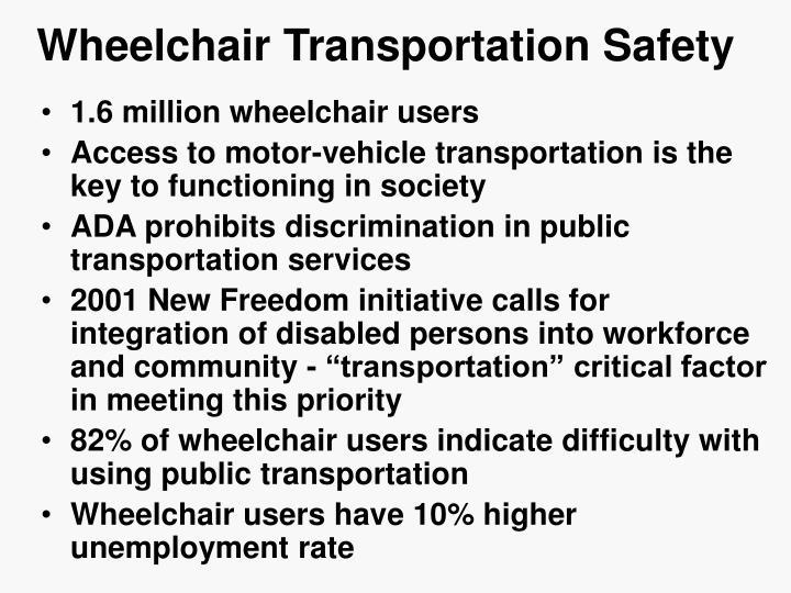 Wheelchair transportation safety