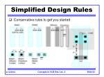 simplified design rules
