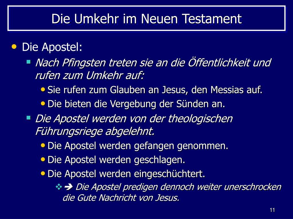 Die Umkehr im Neuen Testament