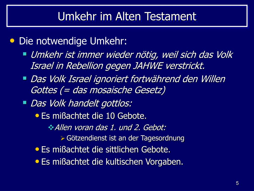 Umkehr im Alten Testament