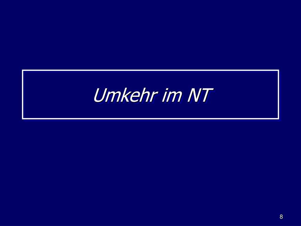 Umkehr im NT