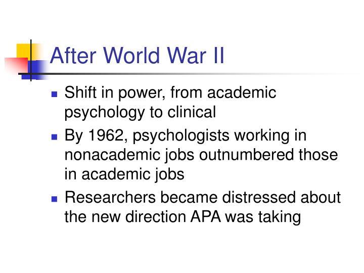 After world war ii
