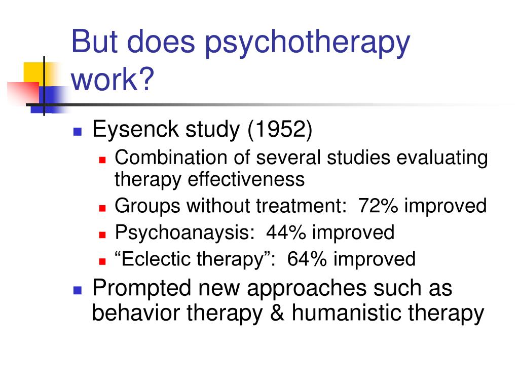 But does psychotherapy work?