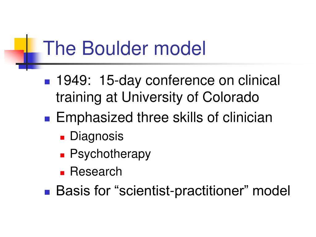 The Boulder model