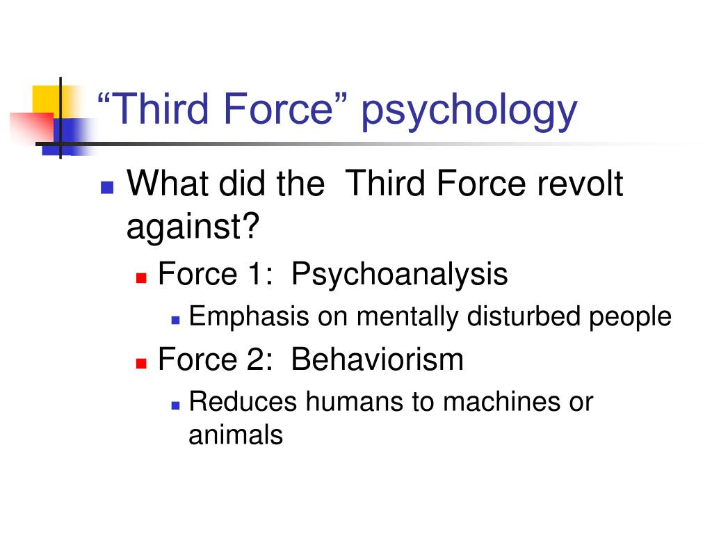 """Third Force"" psychology"
