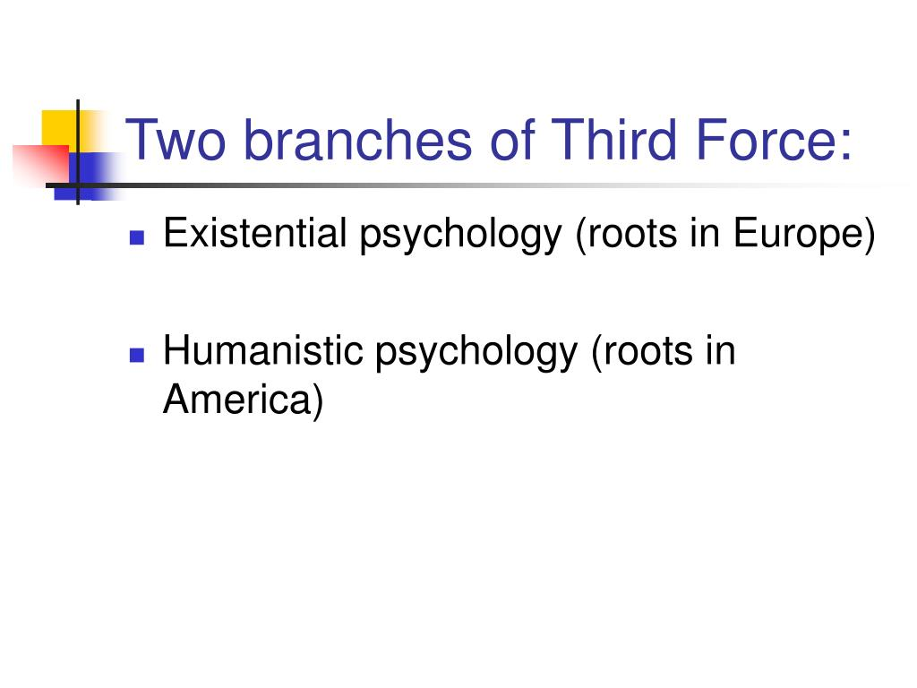 Two branches of Third Force: