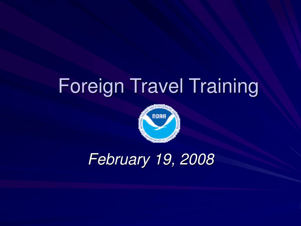foreign travel training l.