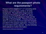 what are the passport photo requirements