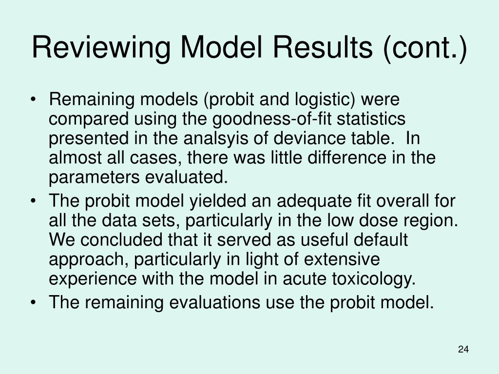 Reviewing Model Results (cont.)