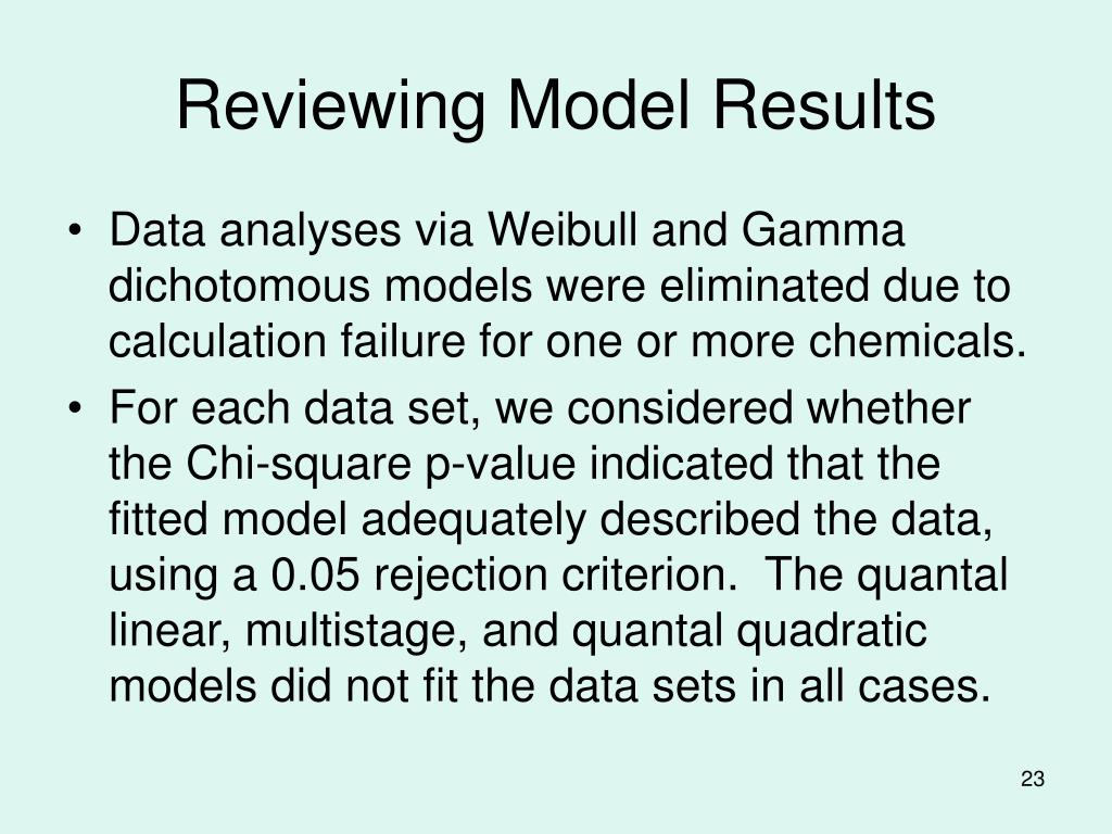 Reviewing Model Results