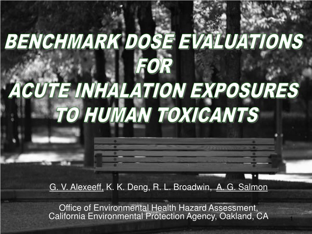BENCHMARK DOSE EVALUATIONS