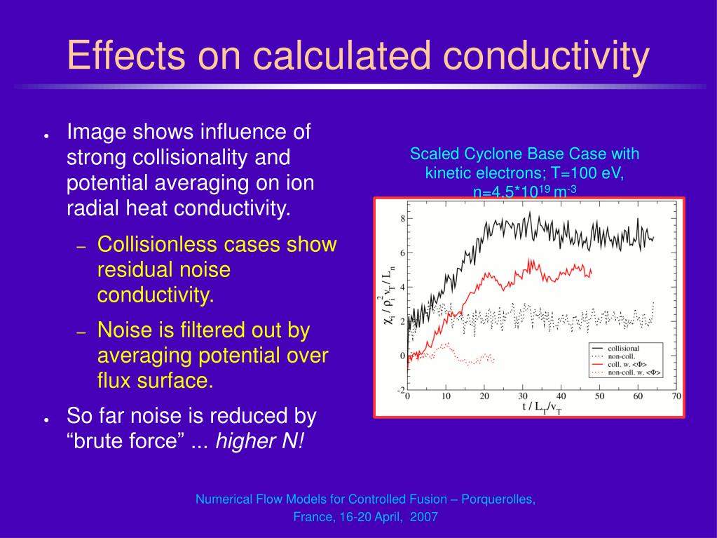 Effects on calculated conductivity