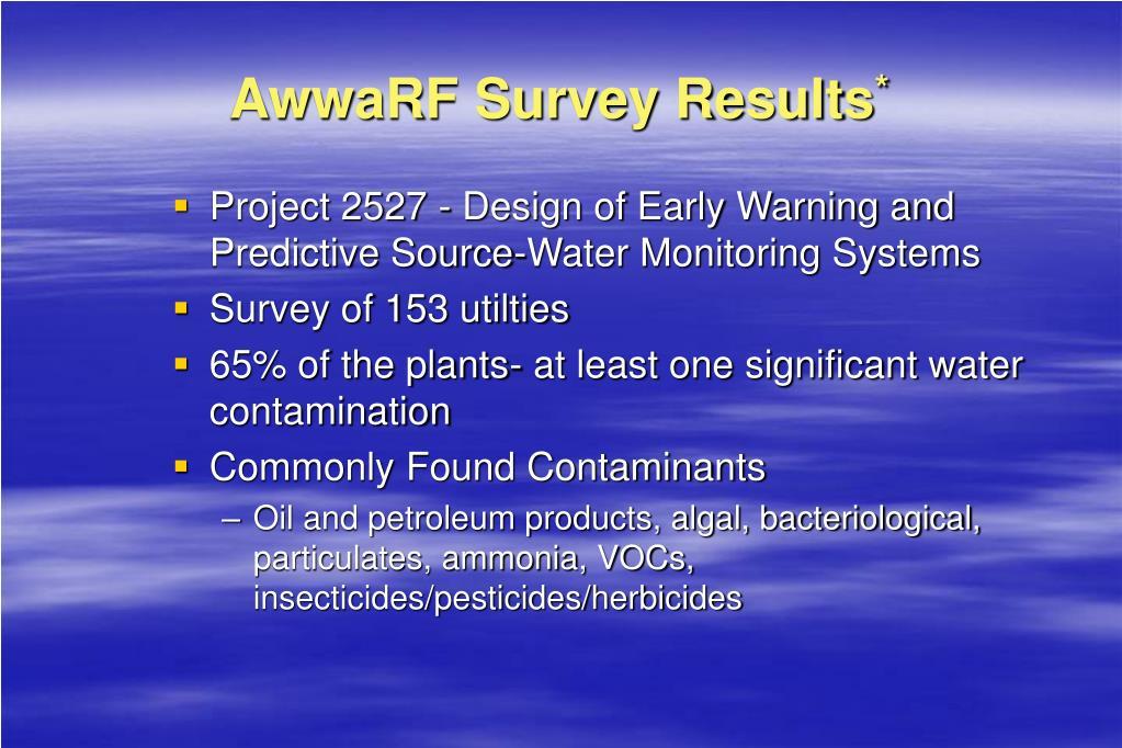 AwwaRF Survey Results