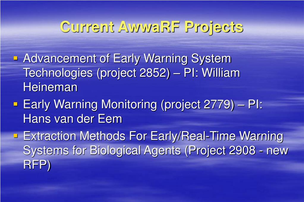 Current AwwaRF Projects