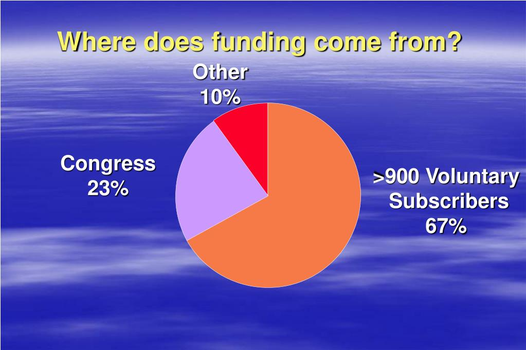 Where does funding come from?