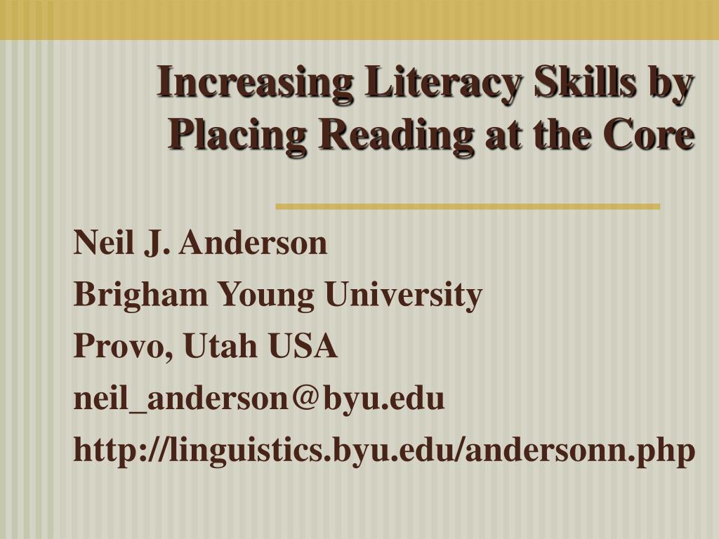 Increasing Literacy Skills by