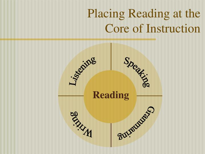Placing reading at the core of instruction