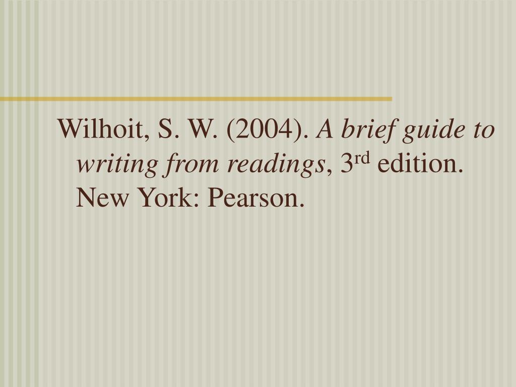Wilhoit, S. W. (2004).