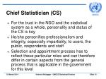 chief statistician cs