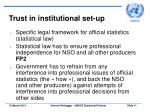 trust in institutional set up