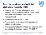 trust in producers of official statistics notably nso