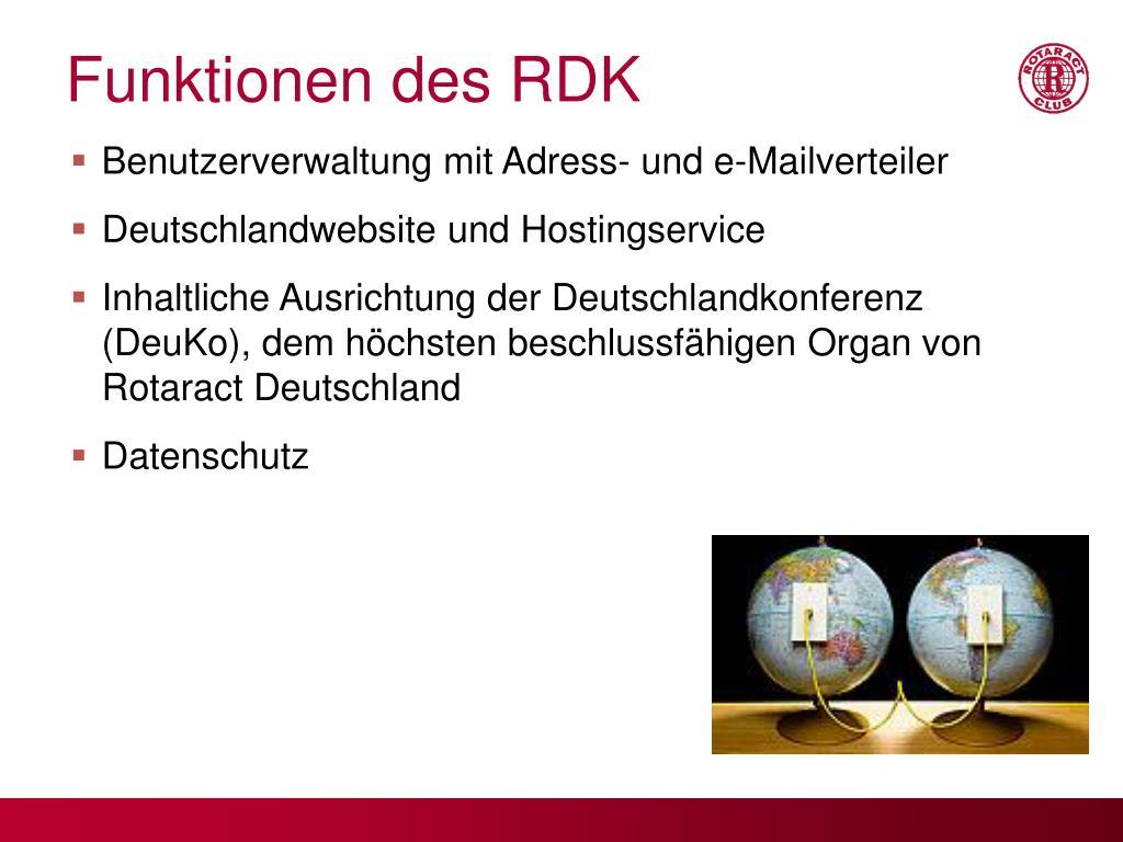 Funktionen des RDK