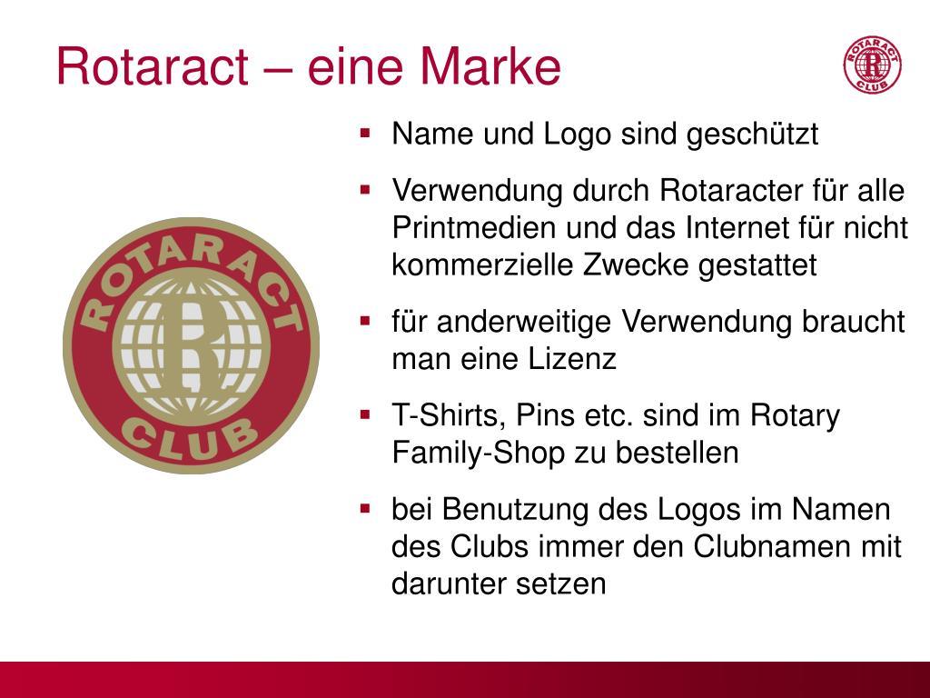 Rotaract – eine Marke