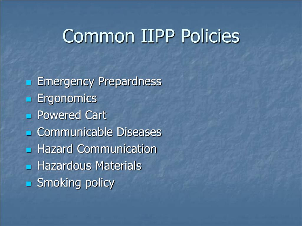 Common IIPP Policies