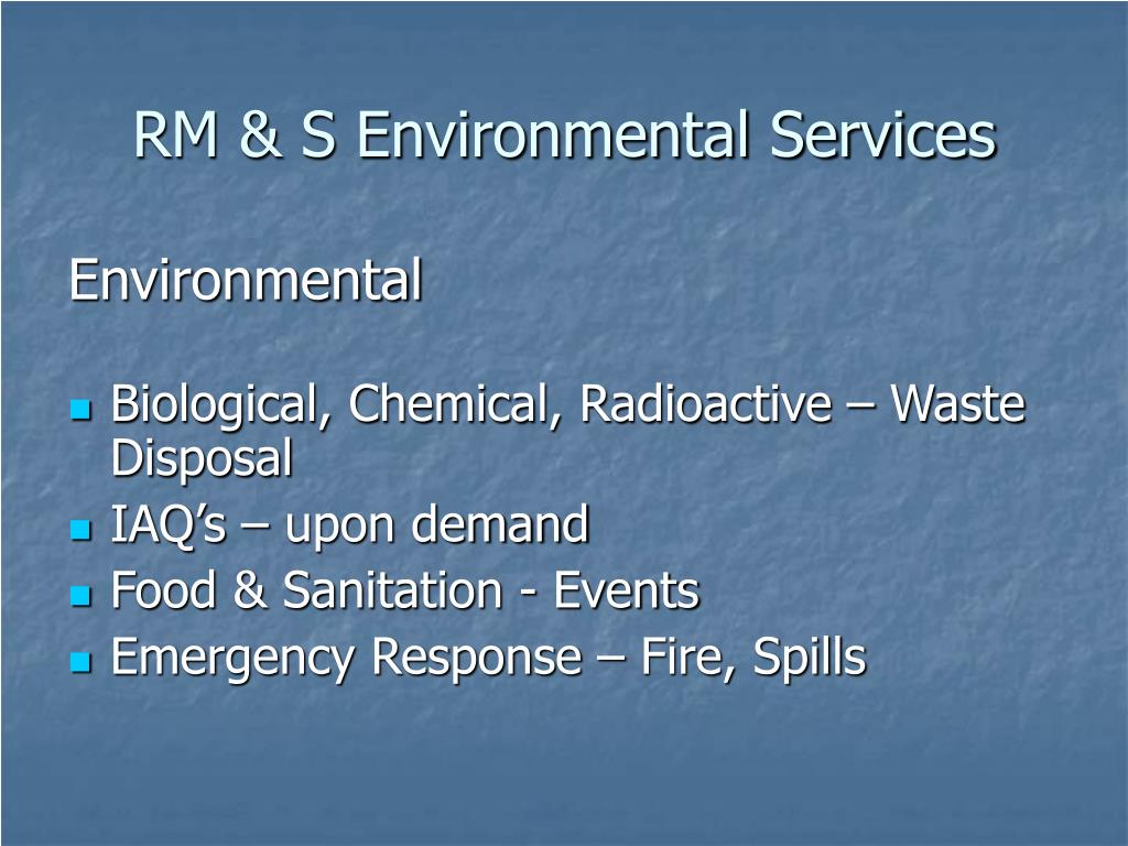 RM & S Environmental Services