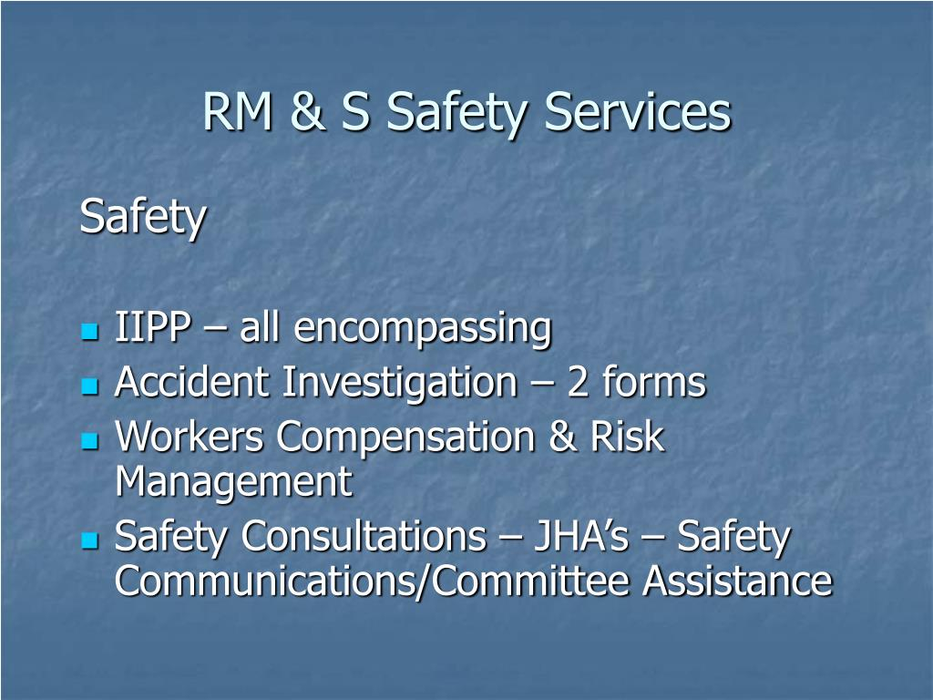 RM & S Safety Services