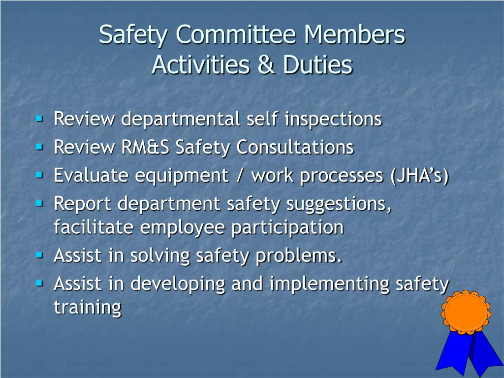 Safety Committee Members