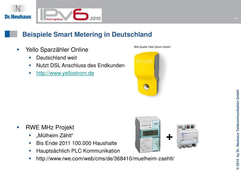 Beispiele Smart Metering in Deutschland