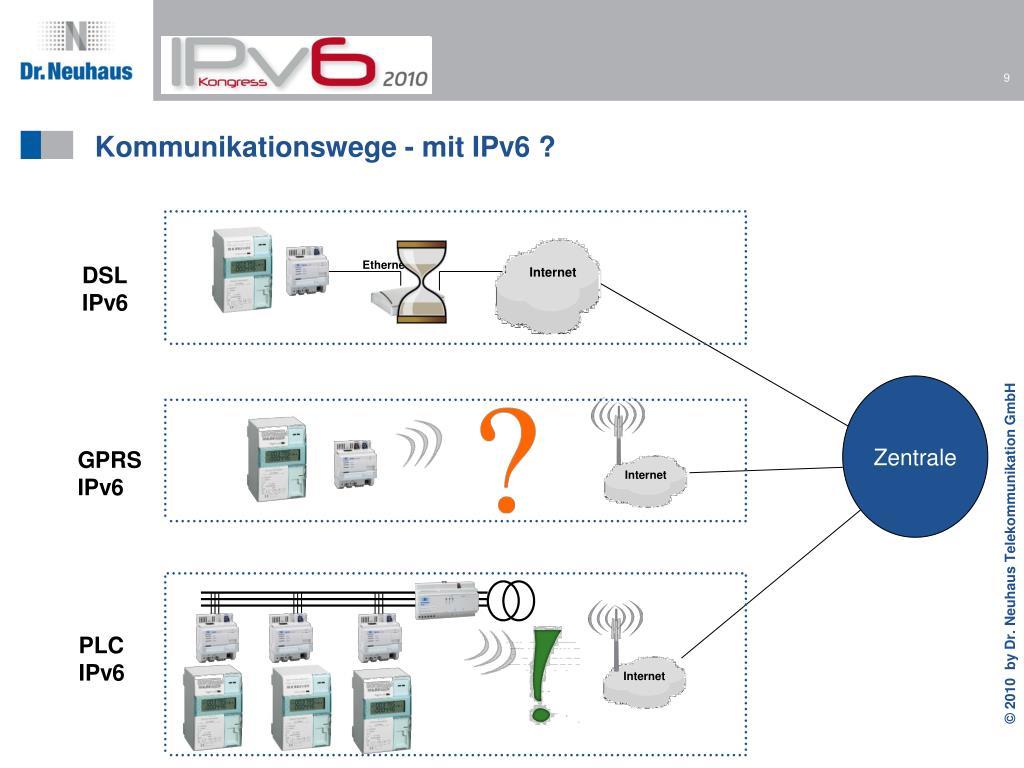 Kommunikationswege - mit IPv6 ?