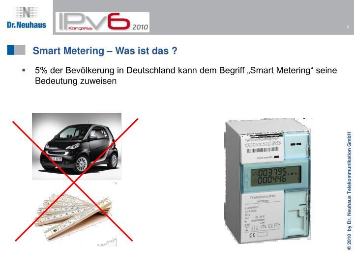 Smart metering was ist das