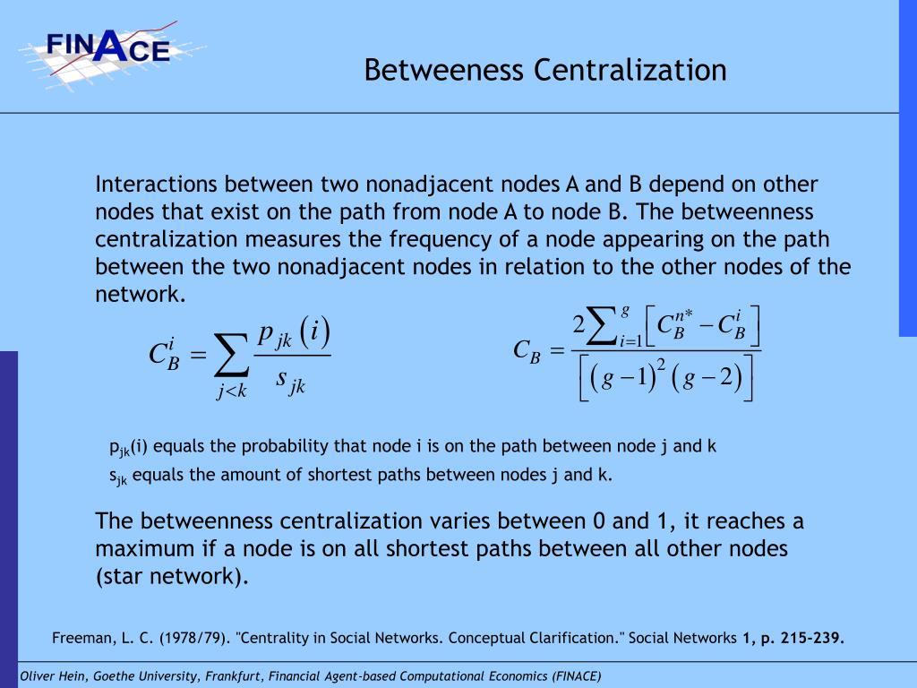 Betweeness Centralization