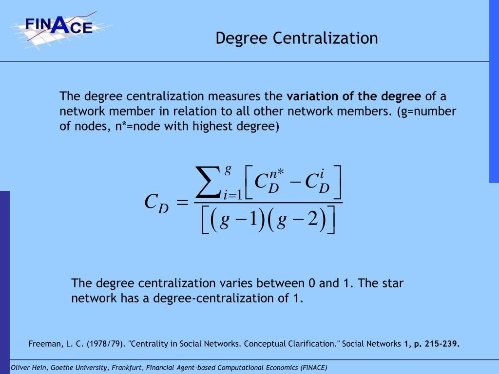 Degree Centralization