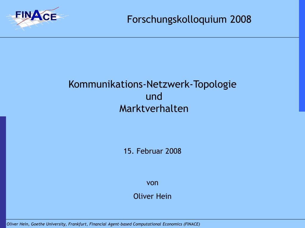 Forschungskolloquium 2008