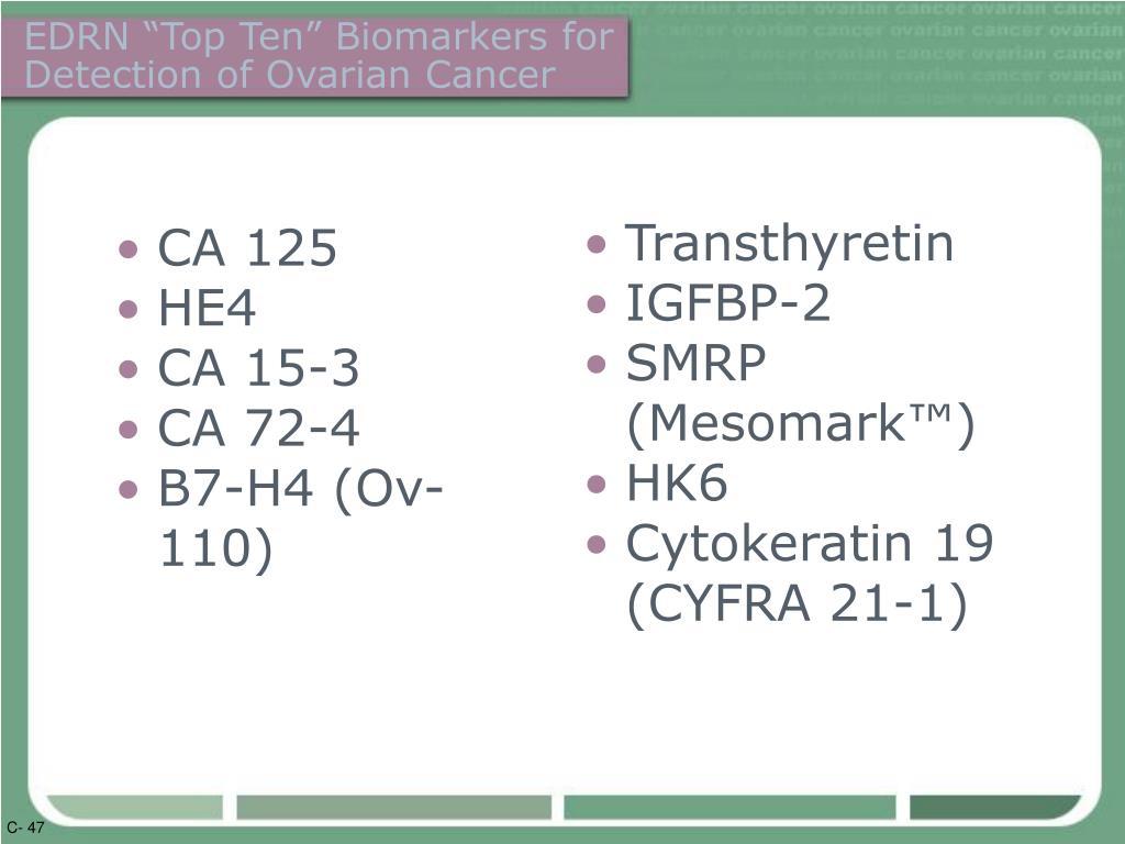 "EDRN ""Top Ten"" Biomarkers for"