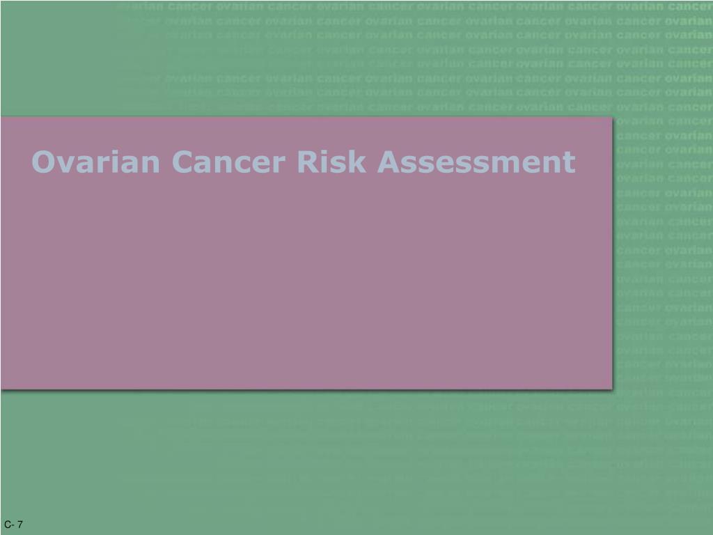 Ovarian Cancer Risk Assessment