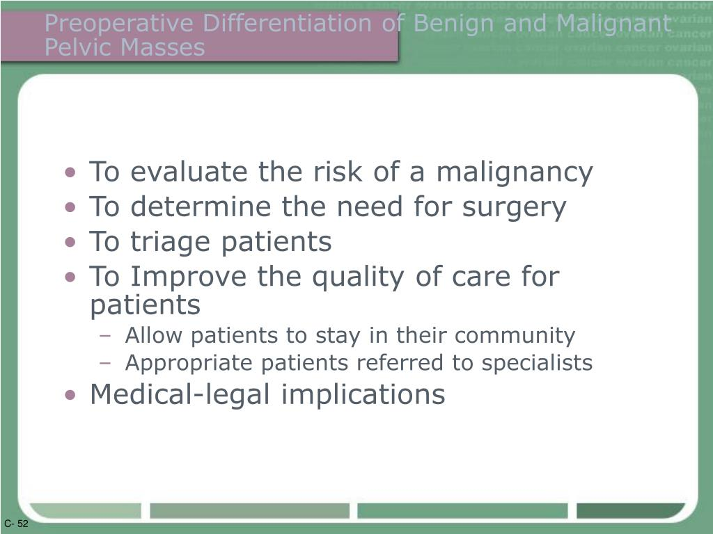 Preoperative Differentiation of Benign and Malignant