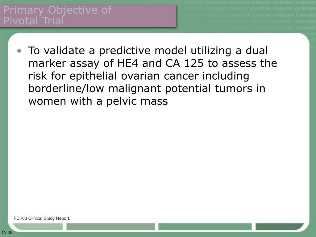 Primary Objective of