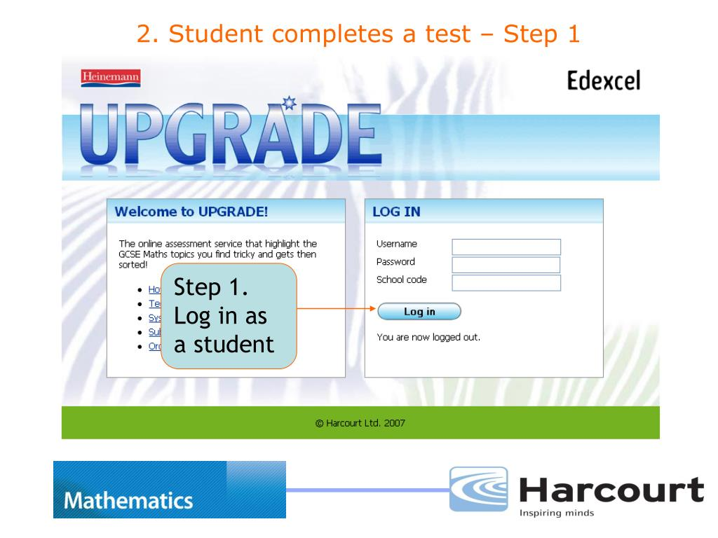 Step 1. Log in as a student